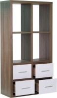 Woodstock India Solid Wood Display Unit(Finish Color - Walnut Brown)