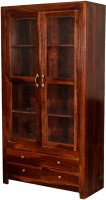 Induscraft Solid Wood Display Unit(Finish Color - Chocolate Brown)