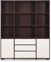 Urban Ladder Iwaki Triple Engineered Wood Display Unit(Finish Color - Dark Walnut)