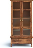 Urban Ladder Malabar Solid Wood Display Unit(Finish Color - Teak)