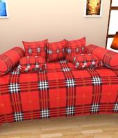 Bansal Yarn Cotton Checkered Diwan Set