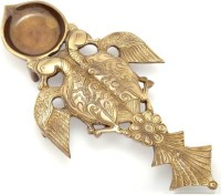 Aakrati Brass Hawan Spoon For Religious Purpose Brass Table Diya(Height: 11 inch)