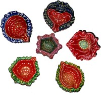 DakshCraft Decorative Traditional Diwali Diya Terracotta Table Diya Set(Height: 1 inch, Pack of 6)