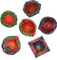 DakshCraft Decorative Handmade Diwali Diya for Home Decoration Terracotta Table Diya Set(Height: 1 i