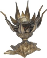 Aakrati A Handicraft Lotus Lamp Brass Table Diya(Height: 4.5 inch)
