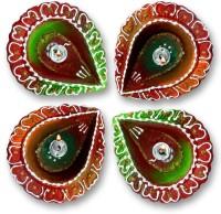 Anant Terracotta Table Diya Set(Pack of 4)