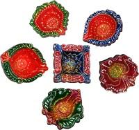 DakshCraft Exquisite Hand Crafted Decorative Diwali Diya Terracotta Table Diya Set(Height: 1 inch, P