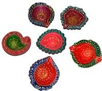 DakshCraft Diwali for Festive Celeberation Terracotta Table Diya Set(Height: 1 inch, Pack of 6)
