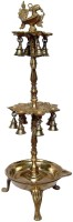 Aakrati Deepak Made In Metal By Aakrti Brass Table Diya(Height: 28 inch)