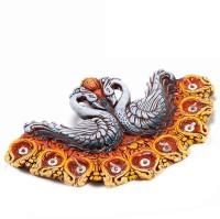 Aapno Rajasthan Swan Shaped Gel Filled Tray Terracotta Table Diya(Height: 13 inch)