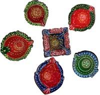 DakshCraft Indian Diwali Diya for Home Decor Terracotta Table Diya Set(Height: 1 inch, Pack of 6)
