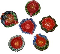 DakshCraft Gorgeously Handmade Decorative Diwali Diya Terracotta Table Diya Set(Height: 1 inch, Pack