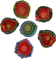 DakshCraft Gorgeously Hand Crafted Decorative Diwali Terracotta Table Diya Set(Height: 1 inch, Pack