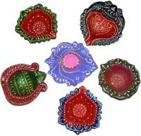 DakshCraft Terracotta Handmade Decorative Diwali Terracotta Table Diya Set(Height: 1 inch, Pack of 6