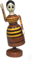 Desert Craftin Wooden Swaying Doll(Multicolor)