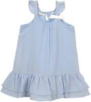 Eimoie Midi/Knee Length Casual Dress(Blue, Sleeveless)