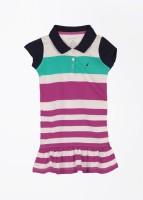 Nautica Midi/Knee Length Casual Dress(Multicolor, Cap Sleeve)