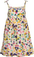Chalk by Pantaloons Girls Maxi/Full Length Casual Dress(White, Noodle strap)