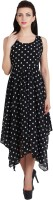 G & M Collections Women Fit and Flare Black Dress