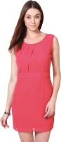 Besiva Women's Sheath Pink Dress