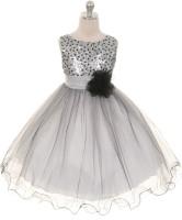 Magic Fairy Maxi/Full Length Party Dress(Silver, Sleeveless)