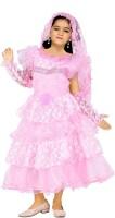 JBN Creation Girls Midi/Knee Length Casual Dress(Pink, Full Sleeve)