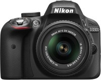 Nikon D3300 with AF-S 18-55 mm VR Kit Lens DSLR Camera (Black)
