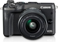 Canon EOS M6 DSLR Camera Body with Single Lens: EF-M15-45 IS STM lens (Camera Bag)(Black)