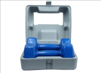 B FIT USA Classic Shape Vinyl Fixed Weight Dumbbell(5 kg)