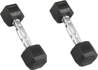 Fit Next Taiwan Hexagon Rubber Fixed Weight Dumbbell(4 Kg)