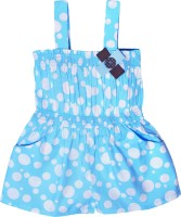 Caca Cina Romper For Girls Cotton(Blue)