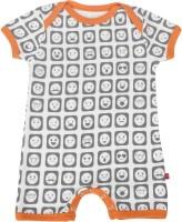 Nino Bambino Romper For Boys Printed Cotton(Beige)