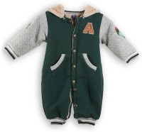 Lilliput Romper For Boys Solid Cotton(Dark Green)