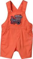 Beebay Dungaree For Boys Applique Cotton(Orange)
