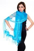 Ooltah Chashma Tussar Silk Self Design Women Dupatta
