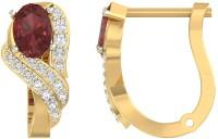 Jewels5 Fairybells Yellow Gold 14kt Diamond Hoop Earring