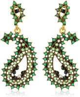 Moedbuille Ethnical And Traditional Leaf Design Alloy Drops & Danglers