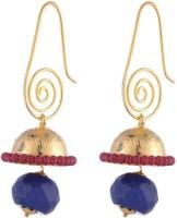 the jewelbox Cubic Zirconia Brass Jhumki Earring