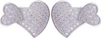 abhooshan Tender Heart Cubic Zirconia Sterling Silver Stud Earring