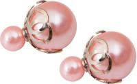 Taj Pearl Modern Plastic Stud Earring