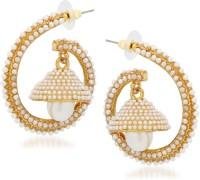 Meenaz Jhumki For Girls Cubic Zirconia, Crystal Alloy Jhumki Earring