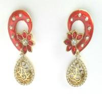 Fashion Pitaraa Golden Sparkle Copper Drops & Danglers