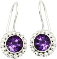 YugshaJewels Elegant YJE-1345 Amethyst Sterling Silver Dangle Earring