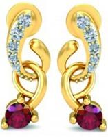 Kataria Jewellers The Leola Yellow Gold 14kt Diamond Stud Earring