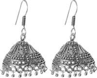 abhooshan Trendy Women Silver, Alloy Jhumki Earring