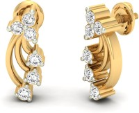 Jewels5 Delphinium Yellow Gold 18kt Diamond Stud Earring