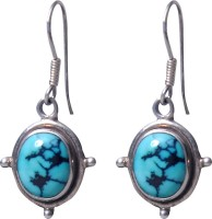 abhooshan Unique Designs Turquoise Sterling Silver Drops & Danglers