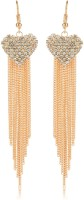 Moedbuille Royal Inspired Graceful CZ Studded Cubic Zirconia Alloy Drops & Danglers