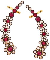 the jewelbox Floral Delight Brass Clip-on Earring