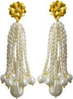 Aastha Jain Asd-2348 Cubic Zirconia, Pearl Sterling Silver Tassel Earring